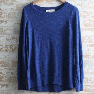 Ann Taylor Loft Lightweight L/S Sweater, Blue, NEW